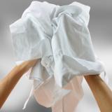 Chiffon coton blanc drap optique. Carton de 10 kilos
