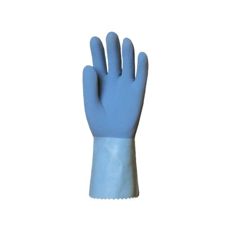 Gant bleu adhérisé en latex...