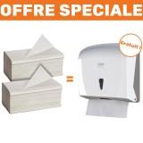 Pack Essuie-Main+ : 2 cartons d'essuie-mains + 1 distributeur offert