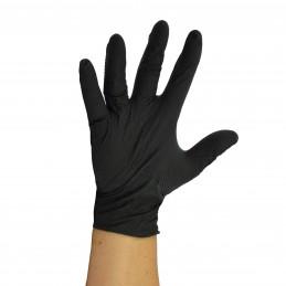 Gant noir en nitrile avec...