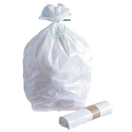 Sac poubelle 10 L blanc 13µ