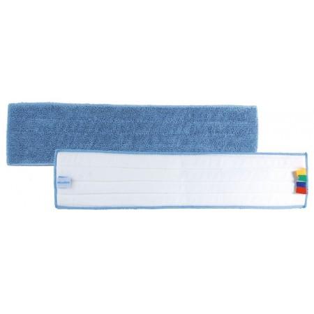 Frange bleue velcro 13 x 64 cm