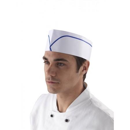 Calot cuisinier blanc en...
