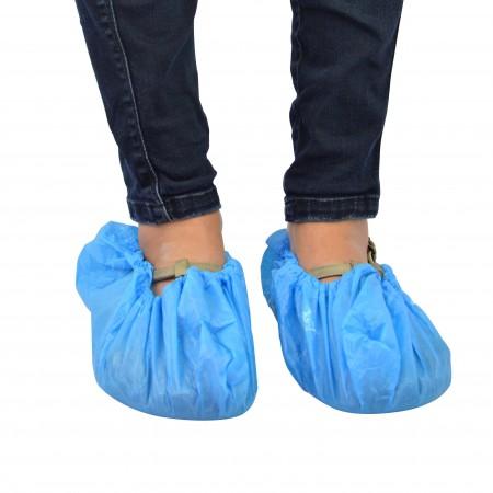 Surchaussure bleue plastique