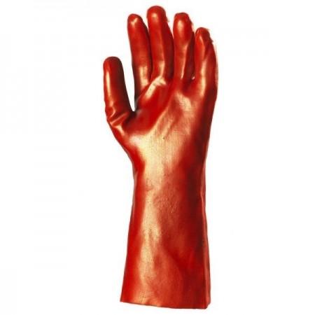 Gant PVC rouge enduit 36 cm